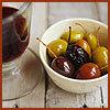 vin et olives