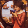Pamela D Lloyd: lady with cup
