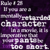 The Rules - retarded movie chars