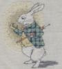 The cross stitched White Rabbit