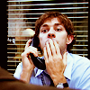 "James ""Jim"" Halpert: on phone"