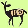 зеленый олень