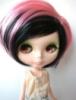 pink, blythe doll, punk, wig, blythe
