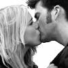 DW - Ten/Rose - b & w of THE KISS