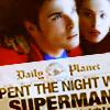a writer now: [sv] spent night w superman