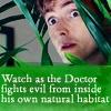 Verba volant, scripta manent: Doctor fights evil