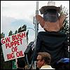 g.w. bush puppet of big oil