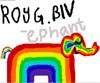 Rainbow, elephant