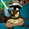 leonard_arlotte: Raccoon with Lightsaber!