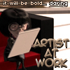 dinogrl: Artist at Work! Bold! Daring! Edna Mode!