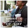 Dr. Horrible-spork in thigh