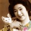 Japanese lady w/cat: nomnomicons