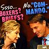 politics >> LOL boxers or briefs.
