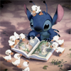 Yuri: Disney: Stitch reading for the ducks