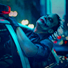 joker driving copcar