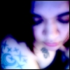 ink, pensive, glowing doll