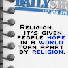 Religion-hope in world torn by religion