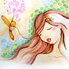 serene girl illustration