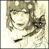 girl and kitty