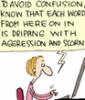 scorn, aggression