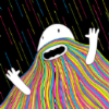 It's a rainbow beard!