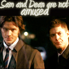 Sam and Dean are not amused