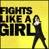 That One Girl: fights like a girl