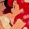 kiss, ariel, the little mermaid, romance