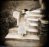 front, faerie, black & white