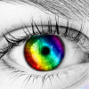 Anna: rainbow eye