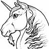 unicorn half face