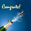 morethansirius: Congrats - Champagne
