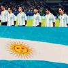 argie football team with flag