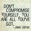 text: don't compromise yourself