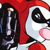 Harley Quinn, gun, bubblegum