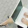 Stock || woman on laptop