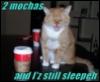 mocha, tired