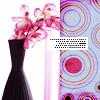pink flower vase