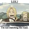 FMA - LOL I'm not watching the road.