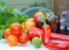 midsummer veggie harvest