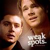 sam dean weak spots - by msthang88