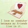 Erin goddamn: Interweb friends :]