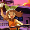 Haruka waving