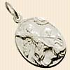 образок серебро фон