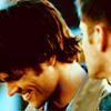 tonicangel: SPN // Sam grin while Dean looks on