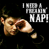 Shellz: dean needs a nap