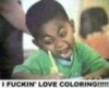 black, boy, coloring