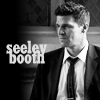 """BONES - booth, b&w suit """"seeley booth"""""""