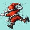 Санта в стене.