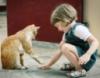 Девочка и кот
